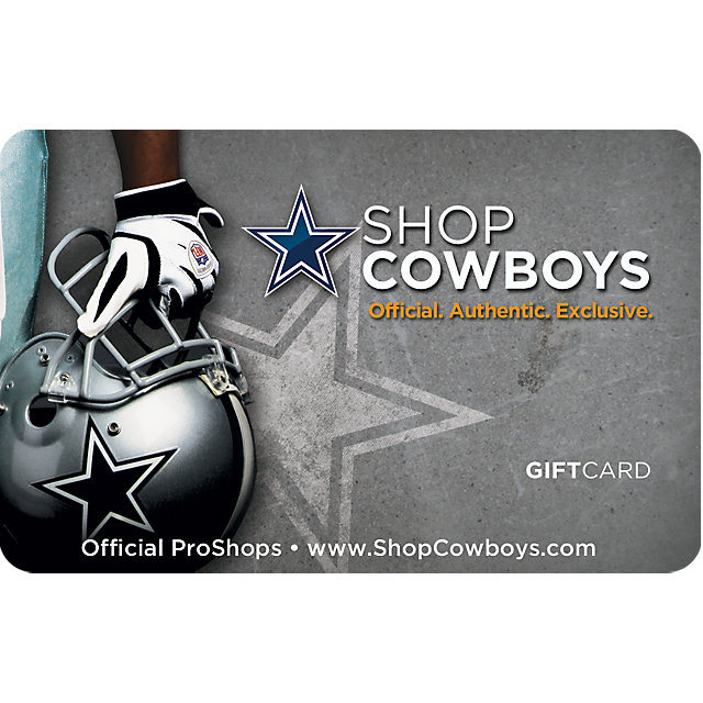 Dallas Cowboys Helmet Gift Card $5-$100