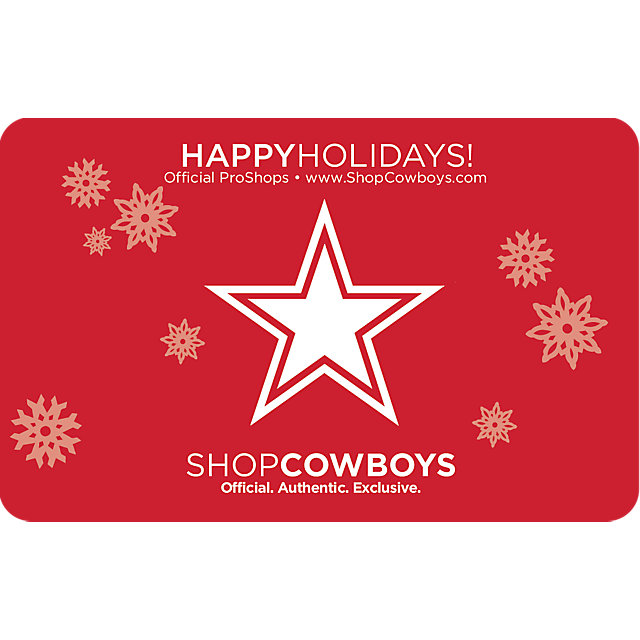 Dallas Cowboys Holiday Star Gift Card $5-$100