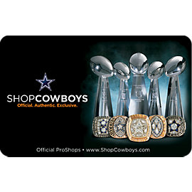 Dallas Cowboys Champions Gift Card $5-$100